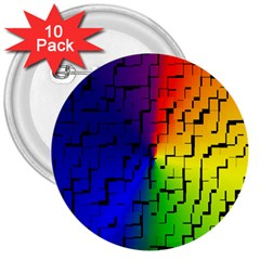 A Creative Colorful Background 3  Buttons (10 Pack)  by Nexatart