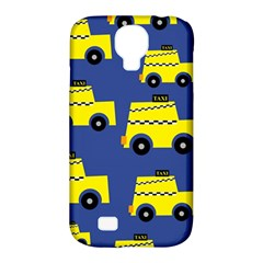 A Fun Cartoon Taxi Cab Tiling Pattern Samsung Galaxy S4 Classic Hardshell Case (pc+silicone) by Nexatart