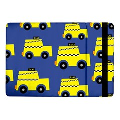 A Fun Cartoon Taxi Cab Tiling Pattern Samsung Galaxy Tab Pro 10 1  Flip Case by Nexatart