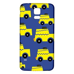 A Fun Cartoon Taxi Cab Tiling Pattern Samsung Galaxy S5 Back Case (white) by Nexatart