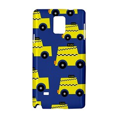 A Fun Cartoon Taxi Cab Tiling Pattern Samsung Galaxy Note 4 Hardshell Case by Nexatart