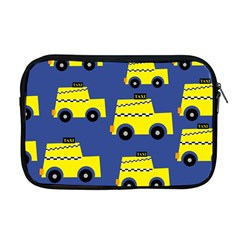 A Fun Cartoon Taxi Cab Tiling Pattern Apple Macbook Pro 17  Zipper Case by Nexatart