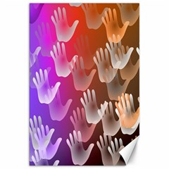 Clipart Hands Background Pattern Canvas 20  X 30   by Nexatart