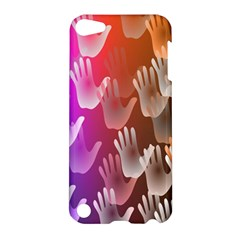 Clipart Hands Background Pattern Apple Ipod Touch 5 Hardshell Case by Nexatart