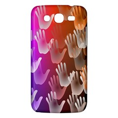 Clipart Hands Background Pattern Samsung Galaxy Mega 5 8 I9152 Hardshell Case  by Nexatart