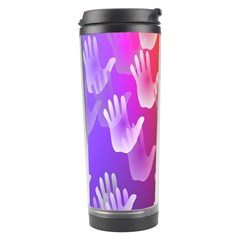 Clipart Hands Background Pattern Travel Tumbler by Nexatart