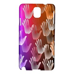 Clipart Hands Background Pattern Samsung Galaxy Note 3 N9005 Hardshell Case by Nexatart