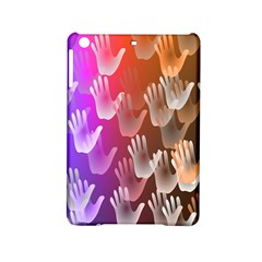 Clipart Hands Background Pattern Ipad Mini 2 Hardshell Cases by Nexatart