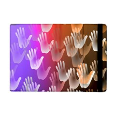 Clipart Hands Background Pattern Ipad Mini 2 Flip Cases by Nexatart