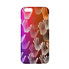 Clipart Hands Background Pattern Apple Iphone 6/6s Hardshell Case by Nexatart
