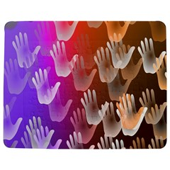 Clipart Hands Background Pattern Jigsaw Puzzle Photo Stand (rectangular)