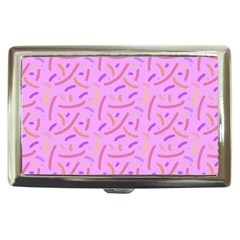Confetti Background Pattern Pink Purple Yellow On Pink Background Cigarette Money Cases by Nexatart