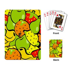 Digitally Created Funky Fruit Wallpaper Playing Card by Nexatart