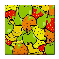 Digitally Created Funky Fruit Wallpaper Face Towel by Nexatart