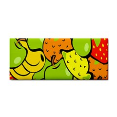 Digitally Created Funky Fruit Wallpaper Cosmetic Storage Cases by Nexatart
