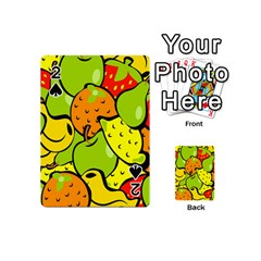 Digitally Created Funky Fruit Wallpaper Playing Cards 54 (mini)  by Nexatart