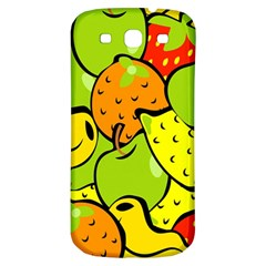 Digitally Created Funky Fruit Wallpaper Samsung Galaxy S3 S Iii Classic Hardshell Back Case by Nexatart