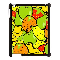Digitally Created Funky Fruit Wallpaper Apple Ipad 3/4 Case (black) by Nexatart