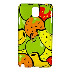 Digitally Created Funky Fruit Wallpaper Samsung Galaxy Note 3 N9005 Hardshell Case by Nexatart