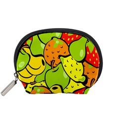 Digitally Created Funky Fruit Wallpaper Accessory Pouches (small)