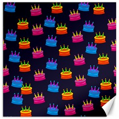A Tilable Birthday Cake Party Background Canvas 20  X 20   by Nexatart