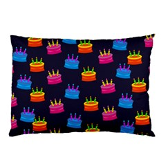 A Tilable Birthday Cake Party Background Pillow Case (two Sides)