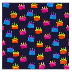 A Tilable Birthday Cake Party Background Large Satin Scarf (square)