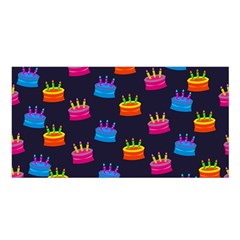 A Tilable Birthday Cake Party Background Satin Shawl
