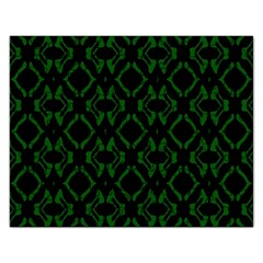 Green Black Pattern Abstract Rectangular Jigsaw Puzzl by Nexatart
