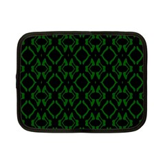 Green Black Pattern Abstract Netbook Case (small)