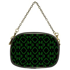 Green Black Pattern Abstract Chain Purses (one Side)  by Nexatart