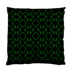 Green Black Pattern Abstract Standard Cushion Case (two Sides) by Nexatart