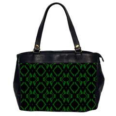 Green Black Pattern Abstract Office Handbags (2 Sides)  by Nexatart