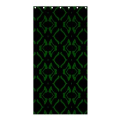 Green Black Pattern Abstract Shower Curtain 36  X 72  (stall)  by Nexatart