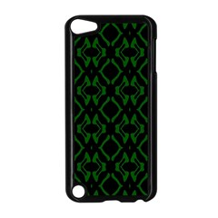 Green Black Pattern Abstract Apple Ipod Touch 5 Case (black) by Nexatart