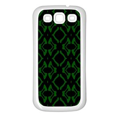 Green Black Pattern Abstract Samsung Galaxy S3 Back Case (white)