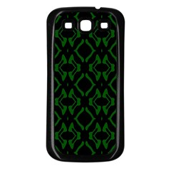 Green Black Pattern Abstract Samsung Galaxy S3 Back Case (black)