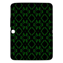 Green Black Pattern Abstract Samsung Galaxy Tab 3 (10 1 ) P5200 Hardshell Case  by Nexatart