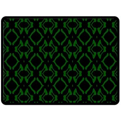 Green Black Pattern Abstract Double Sided Fleece Blanket (large)  by Nexatart
