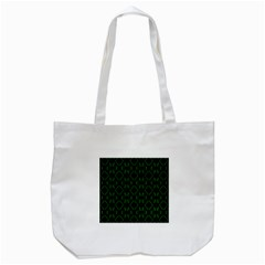 Green Black Pattern Abstract Tote Bag (white)