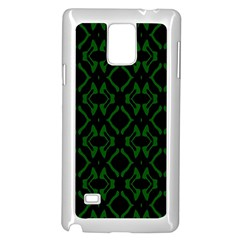 Green Black Pattern Abstract Samsung Galaxy Note 4 Case (white)