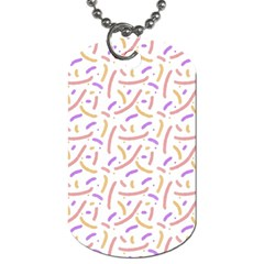 Confetti Background Pink Purple Yellow On White Background Dog Tag (two Sides) by Nexatart