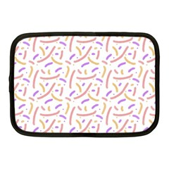 Confetti Background Pink Purple Yellow On White Background Netbook Case (medium)