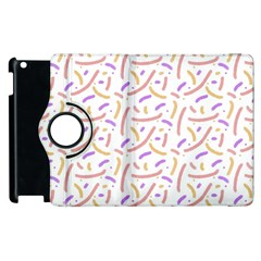 Confetti Background Pink Purple Yellow On White Background Apple Ipad 2 Flip 360 Case by Nexatart