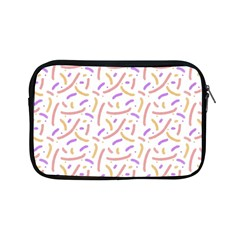 Confetti Background Pink Purple Yellow On White Background Apple Ipad Mini Zipper Cases by Nexatart