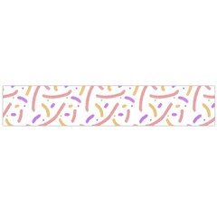 Confetti Background Pink Purple Yellow On White Background Flano Scarf (large)