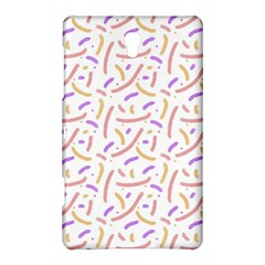 Confetti Background Pink Purple Yellow On White Background Samsung Galaxy Tab S (8 4 ) Hardshell Case