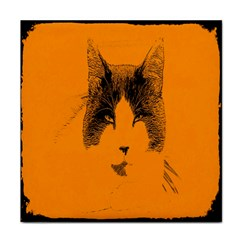 Cat Graphic Art Tile Coasters by Nexatart