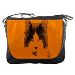 Cat Graphic Art Messenger Bags by Nexatart