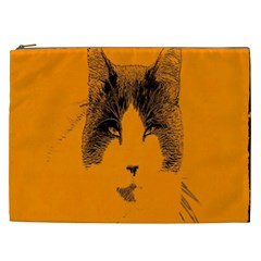 Cat Graphic Art Cosmetic Bag (xxl)